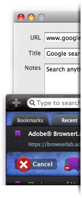 add edit delete bookmarks